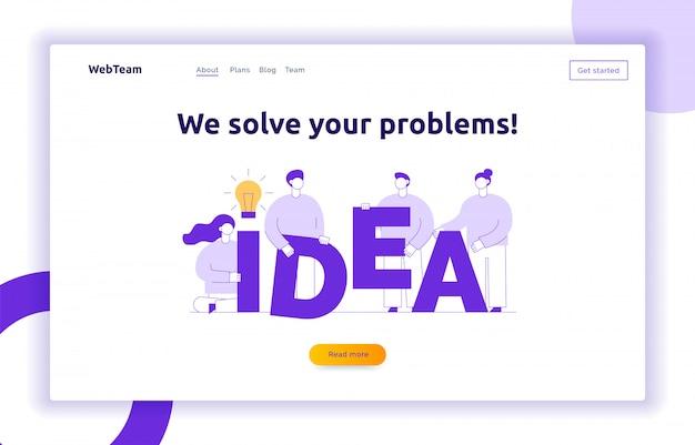 Concepto de diseño de idea de negocio de vector