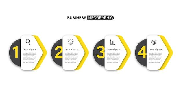 Concepto de diseño de infografía empresarial con iconos