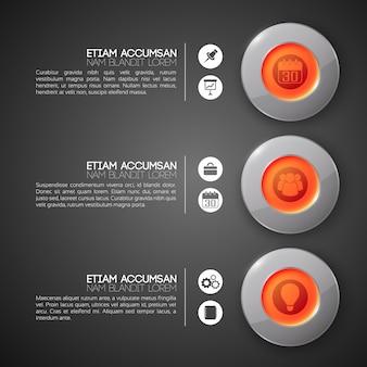 Concepto de diseño de infografía empresarial