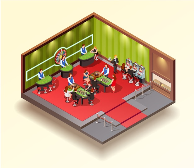 Concepto de diseño isométrico de casino