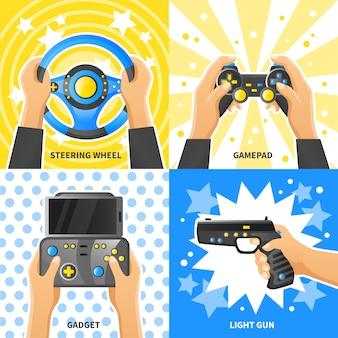 Concepto de diseño del juego gadget