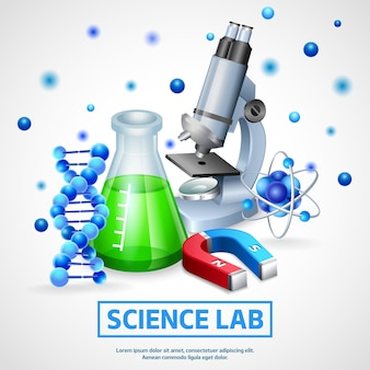Concepto de diseño de laboratorio científico