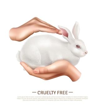 Concepto de diseño libre de crueldad