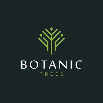 Concepto de diseño de logo de árbol. logotipo del árbol universal.