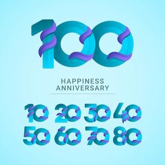 Concepto de diseño de logo de celebración de aniversario.