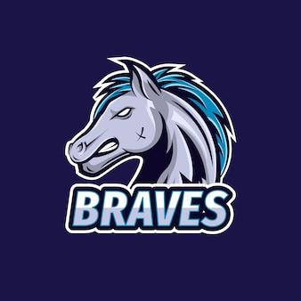 Concepto de diseño de logo de mascota