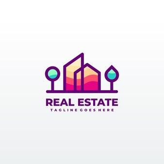 Concepto de diseño de logotipo abstracto edificio de la ciudad