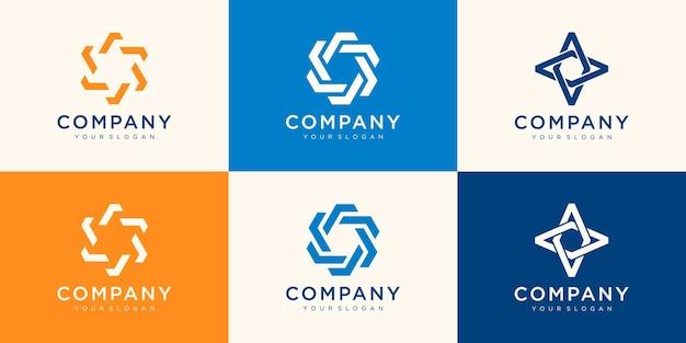 Concepto de diseño de logotipo circular