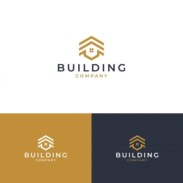 Concepto de diseño de logotipo inmobiliario