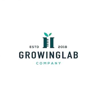 Concepto de diseño de logotipo de laboratorio. logotipo de laboratorio universal.