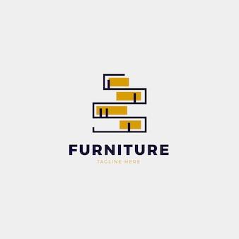 Concepto de diseño de logotipo de muebles