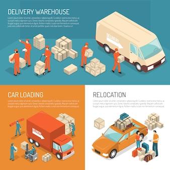 Concepto de diseño móvil de entrega