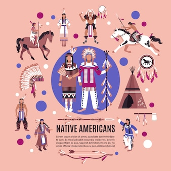Concepto de diseño de nativos americanos