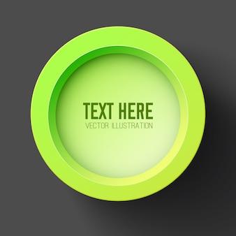 Concepto de diseño de negocio abstracto con círculo verde