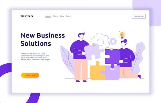 Concepto de diseño de negocio e idea de vector