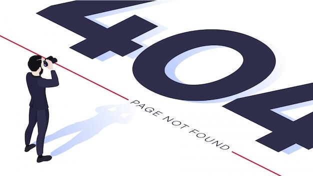 Concepto de diseño de página de error 404