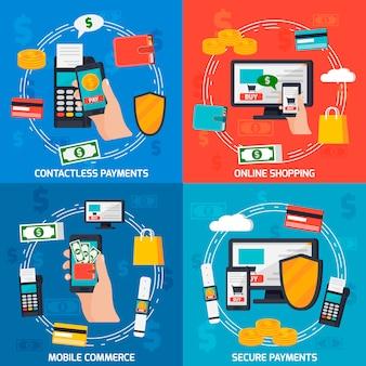 Concepto de diseño de pagos moblie
