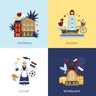 Concepto de diseño de países bajos