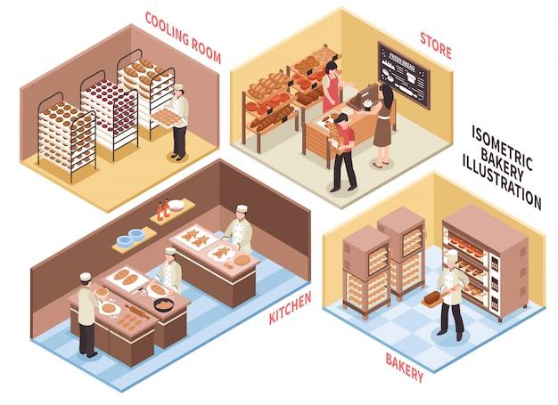 Concepto de diseño de panadería