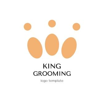 Concepto de diseño para peluquería de mascotas o peluquería.plantilla de logotipo vectorial.