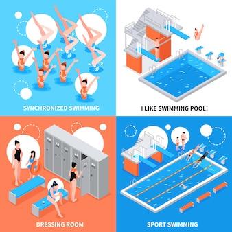 Concepto de diseño de piscinas