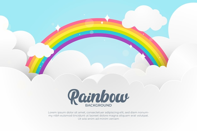 Concepto de diseño plano del arco iris