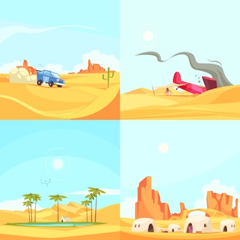 Concepto de diseño plano del desierto