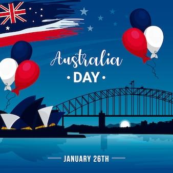 Concepto de diseño plano día de australia