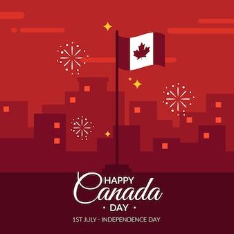 Concepto de diseño plano día de canadá