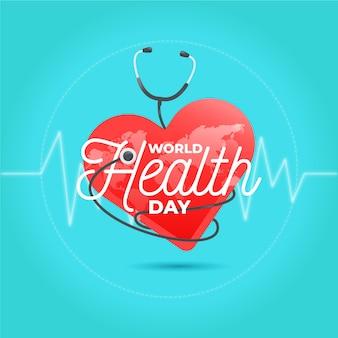 Concepto de diseño plano del día mundial de la salud