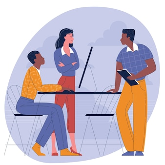 Concepto de diseño plano de diversidad y trabajo en equipo multicultural.