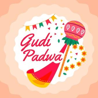 Concepto de diseño plano gudi padwa