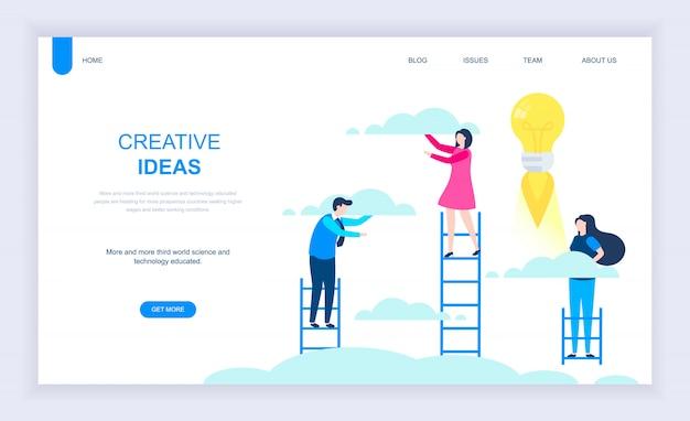Concepto de diseño plano moderno de idea creativa