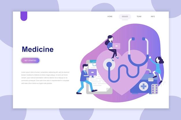 Concepto de diseño plano moderno de la medicina para el sitio web