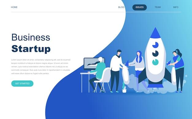 Concepto de diseño plano moderno de startup your project