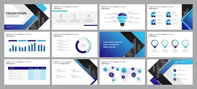 Concepto de diseño de presentación de negocios con elementos infográficos