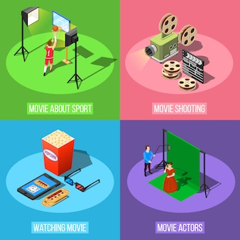 Concepto de diseño de producción de película