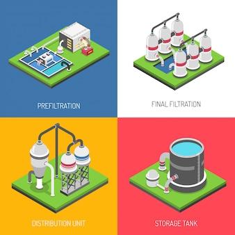 Concepto de diseño de purificación de agua