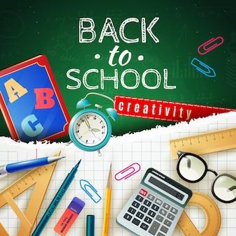 Concepto de diseño de regreso a la escuela