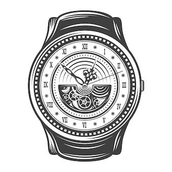Concepto de diseño de relojes hermosos vintage