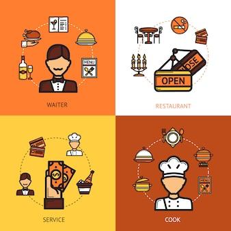 Concepto de diseño de restaurante