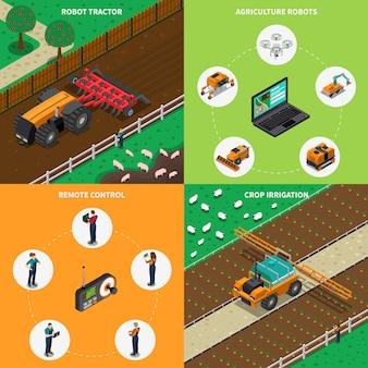 Concepto de diseño de robots agrimotores
