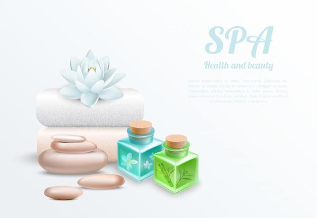 Concepto de diseño suave y realista de spa