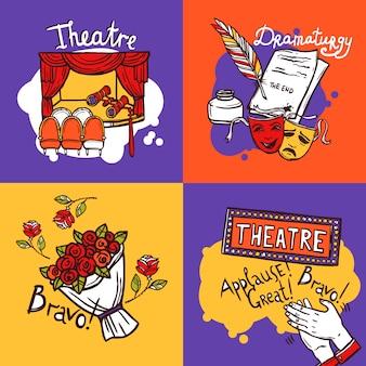 Concepto de diseño de teatro