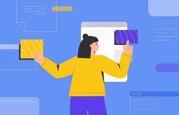 Concepto de diseño ui ux de creación de una aplicación.