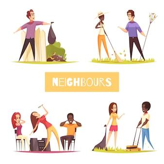 Concepto de diseño de vecinos