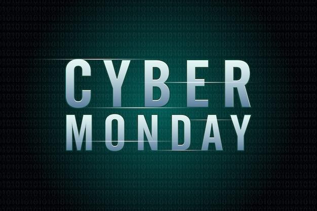 Concepto de diseño de venta cyber monday. plantilla de diseño de tendencia moderna.
