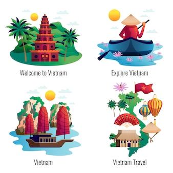 Concepto de diseño de vietnam