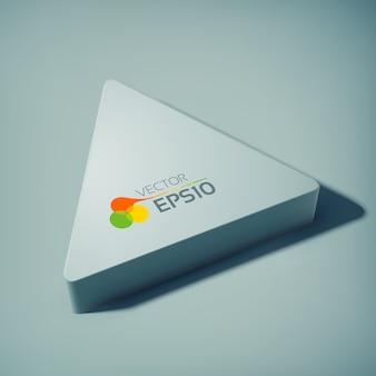 Concepto de diseño web abstracto con triángulo 3d en estilo perspectiva
