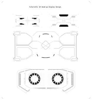 Concepto de diseño web. concepto de juegos de computadora. interfaz de usuario del juego de vectores. gadget digital. ilustración de vector futuro infografía. pantalla de hud de tecnología futurista.